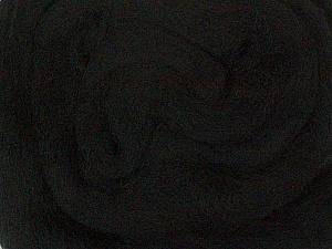 50gr-1.8m (1.76oz-1.97yards) 100% Wool felt Fiber Content 100% Wool, Brand Ice Yarns, Black, acs-924