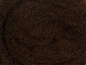 50gr-1.8m (1.76oz-1.97yards) 100% Wool felt Fiber Content 100% Wool, Brand Ice Yarns, Dark Brown, acs-928