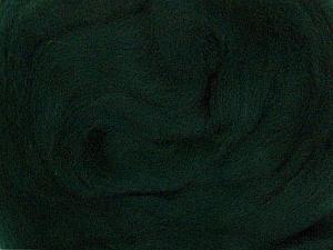 50gr-1.8m (1.76oz-1.97yards) 100% Wool felt Fiber Content 100% Wool, Brand Ice Yarns, Dark Green, acs-935
