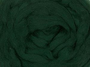 50gr-1.8m (1.76oz-1.97yards) 100% Wool felt Fiber Content 100% Wool, Brand Ice Yarns, Green, acs-936