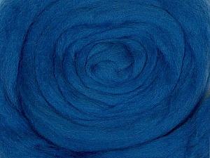 50gr-1.8m (1.76oz-1.97yards) 100% Wool felt Fiber Content 100% Wool, Brand Ice Yarns, Blue, acs-947