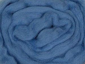 50gr-1.8m (1.76oz-1.97yards) 100% Wool felt Fiber Content 100% Wool, Indigo Blue, Brand Ice Yarns, acs-948