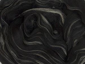 50gr-1.8m (1.76oz-1.97yards) 100% Wool felt Fiber Content 100% Wool, Brand Ice Yarns, Cream, Black, acs-983