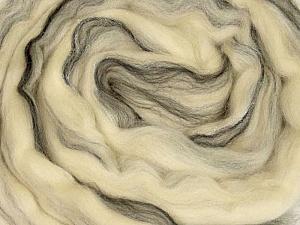 50gr-2m (1.76oz-2.18yards) 95%Wool, 5% Lurex Felt Fiber Content 95% Wool, 5% Lurex, White, Brand Ice Yarns, Cream, Black, acs-987