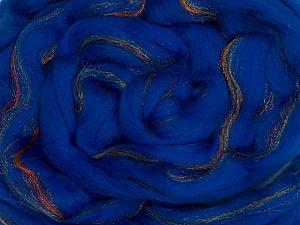 50gr-2m (1.76oz-2.18yards) 95%Wool, 5% Lurex Felt Fiber Content 95% Wool, 5% Lurex, Red, Brand Ice Yarns, Gold, Blue, acs-991