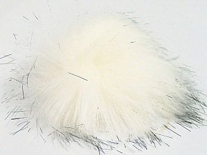 Diameter around 7cm (3&) White, Brand Ice Yarns, Black, acs-1155