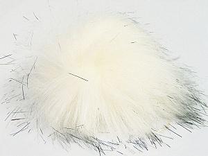 Diameter around 7cm (3&) White, Brand Ice Yarns, Black, acs-1155