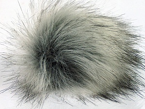 Diameter around 7cm (3&) Brand Ice Yarns, Grey Shades, acs-1196