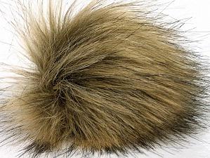 Diameter around 7cm (3&) Brand Ice Yarns, Camel, Brown, acs-1198