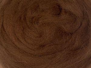 50gr-1.8m (1.76oz-1.97yards) 100% Wool felt Fiber Content 100% Wool, Brand Ice Yarns, Brown, acs-1276