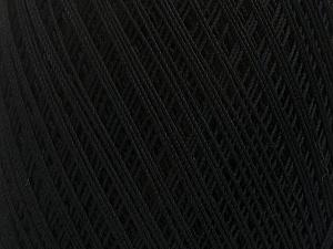 Ne: 10/3 Nm: 17/3 Fiber Content 100% Mercerised Cotton, Brand Ice Yarns, Black, Yarn Thickness 1 SuperFine  Sock, Fingering, Baby, fnt2-49526