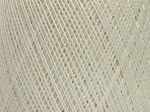Ne: 10/3 Nm: 17/3 Fiber Content 100% Mercerised Cotton, White, Brand Ice Yarns, Yarn Thickness 1 SuperFine  Sock, Fingering, Baby, fnt2-49527