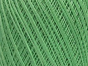 Ne: 10/3 Nm: 17/3 Fiber Content 100% Mercerised Cotton, Mint Green, Brand Ice Yarns, Yarn Thickness 1 SuperFine  Sock, Fingering, Baby, fnt2-49531