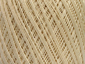 Ne: 10/3 Nm: 17/3 Fiber Content 100% Mercerised Cotton, Brand Ice Yarns, Cream, Yarn Thickness 1 SuperFine  Sock, Fingering, Baby, fnt2-49850