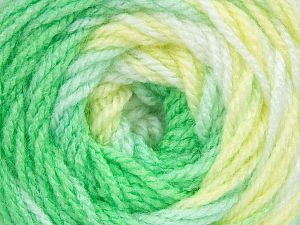 . Fiber Content 100% Baby Acrylic, Yellow, White, Brand Ice Yarns, Green Shades, Yarn Thickness 2 Fine  Sport, Baby, fnt2-50003
