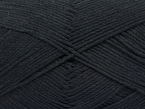 Fiber Content 100% Cotton, Brand Ice Yarns, Black, Yarn Thickness 2 Fine  Sport, Baby, fnt2-50091