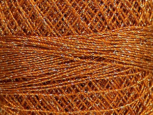 Fiber Content 70% Polyester, 30% Metallic Lurex, Brand YarnArt, Gold, Yarn Thickness 0 Lace  Fingering Crochet Thread, fnt2-50147
