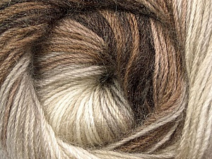 Fiber Content 60% Premium Acrylic, 20% Mohair, 20% Wool, Brand Ice Yarns, Cream, Brown Shades, Yarn Thickness 2 Fine  Sport, Baby, fnt2-50293