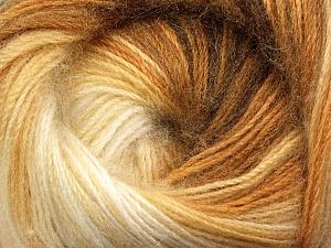 Fiber Content 60% Premium Acrylic, 20% Mohair, 20% Wool, Brand Ice Yarns, Cream, Camel, Brown, Yarn Thickness 2 Fine  Sport, Baby, fnt2-50295