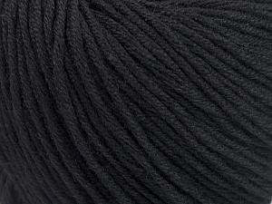 Fiber Content 60% Bamboo, 40% Cotton, Brand Ice Yarns, Black, Yarn Thickness 3 Light  DK, Light, Worsted, fnt2-50532