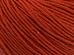 Fiber Content 60% Bamboo, 40% Cotton, Terra Cotta, Brand Ice Yarns, Yarn Thickness 3 Light  DK, Light, Worsted, fnt2-50537