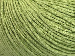 Fiber Content 60% Bamboo, 40% Cotton, Light Green, Brand Ice Yarns, Yarn Thickness 3 Light  DK, Light, Worsted, fnt2-50543