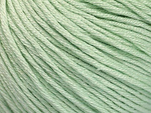 Fiber Content 60% Bamboo, 40% Cotton, Mint Green, Brand Ice Yarns, Yarn Thickness 3 Light  DK, Light, Worsted, fnt2-50546