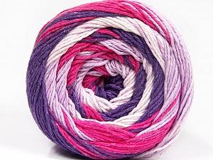Fiber Content 100% Cotton, White, Purple, Lilac, Brand Ice Yarns, Fuchsia, Yarn Thickness 3 Light  DK, Light, Worsted, fnt2-50561