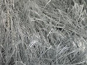 Fiberinnehåll 100% Polyester, Light Grey, Brand Ice Yarns, Yarn Thickness 5 Bulky  Chunky, Craft, Rug, fnt2-50635
