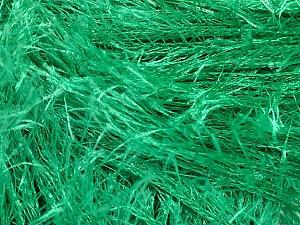 Fiberinnehåll 100% Polyester, Brand Ice Yarns, Emerald Green, Yarn Thickness 5 Bulky  Chunky, Craft, Rug, fnt2-50641