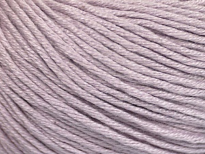 Fiber Content 60% Bamboo, 40% Cotton, Light Lilac, Brand Ice Yarns, Yarn Thickness 3 Light  DK, Light, Worsted, fnt2-50667