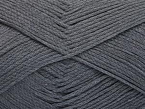 Fiber Content 100% Cotton, Brand Ice Yarns, Dark Grey, Yarn Thickness 2 Fine  Sport, Baby, fnt2-51099