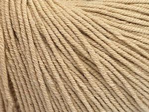 Fiber Content 60% Cotton, 40% Acrylic, Brand Ice Yarns, Beige, Yarn Thickness 2 Fine  Sport, Baby, fnt2-51206