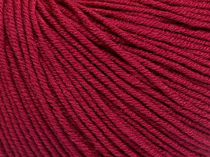 Fiber Content 60% Cotton, 40% Acrylic, Brand Ice Yarns, Burgundy, Yarn Thickness 2 Fine  Sport, Baby, fnt2-51210