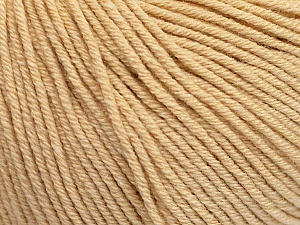 Fiber Content 60% Cotton, 40% Acrylic, Brand Ice Yarns, Dark Cream, Yarn Thickness 2 Fine  Sport, Baby, fnt2-51220