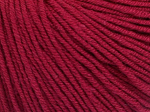 Fiber Content 60% Cotton, 40% Acrylic, Brand Ice Yarns, Burgundy, Yarn Thickness 2 Fine  Sport, Baby, fnt2-51228