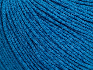 Fiber Content 60% Cotton, 40% Acrylic, Turquoise, Brand Ice Yarns, Yarn Thickness 2 Fine  Sport, Baby, fnt2-51238