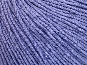 Fiber Content 60% Cotton, 40% Acrylic, Lilac, Brand Ice Yarns, Yarn Thickness 2 Fine  Sport, Baby, fnt2-51241