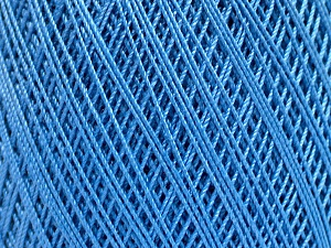 Ne: 10/3 Nm: 17/3 Fiber Content 100% Mercerised Cotton, Brand Ice Yarns, Blue, Yarn Thickness 1 SuperFine  Sock, Fingering, Baby, fnt2-51250