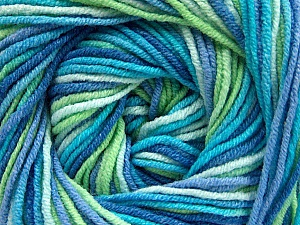 Fiber Content 55% Cotton, 45% Acrylic, Turquoise, Brand Ice Yarns, Green, Blue Shades, Yarn Thickness 3 Light  DK, Light, Worsted, fnt2-51445