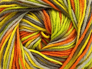 Fiber Content 55% Cotton, 45% Acrylic, Yellow, Orange, Brand Ice Yarns, Green, Camel, Yarn Thickness 3 Light  DK, Light, Worsted, fnt2-51446