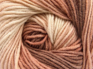 Fiber Content 55% Cotton, 45% Acrylic, Rose Brown, Light Pink, Brand Ice Yarns, Brown, Yarn Thickness 3 Light  DK, Light, Worsted, fnt2-51448