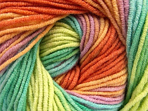 Fiber Content 55% Cotton, 45% Acrylic, Yellow, Orange, Lilac, Brand Ice Yarns, Green Shades, Yarn Thickness 3 Light  DK, Light, Worsted, fnt2-51451