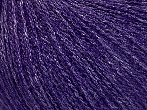 Fiber Content 65% Merino Wool, 35% Silk, Purple, Brand Ice Yarns, Yarn Thickness 1 SuperFine  Sock, Fingering, Baby, fnt2-51457