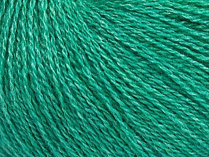 Fiber Content 65% Merino Wool, 35% Silk, Brand Ice Yarns, Emerald Green, Yarn Thickness 1 SuperFine  Sock, Fingering, Baby, fnt2-51458