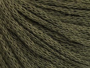 Fiber Content 50% Wool, 50% Acrylic, Khaki, Brand Ice Yarns, Yarn Thickness 4 Medium  Worsted, Afghan, Aran, fnt2-51475