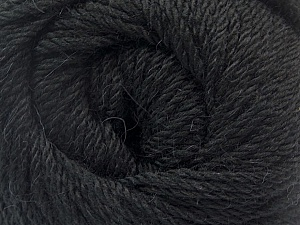 Fiber Content 45% Alpaca, 30% Polyamide, 25% Wool, Brand Ice Yarns, Black, Yarn Thickness 3 Light  DK, Light, Worsted, fnt2-51520