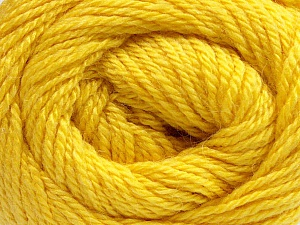 Fiber Content 45% Alpaca, 30% Polyamide, 25% Wool, Yellow, Brand Ice Yarns, Yarn Thickness 3 Light  DK, Light, Worsted, fnt2-51528