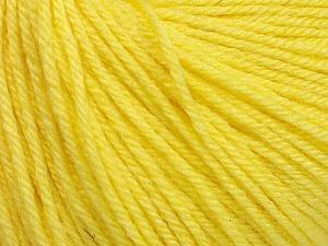 Fiber Content 40% Acrylic, 40% Merino Wool, 20% Polyamide, Light Yellow, Brand Ice Yarns, Yarn Thickness 2 Fine  Sport, Baby, fnt2-51546
