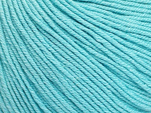 Fiber Content 60% Cotton, 40% Acrylic, Light Turquoise, Brand Ice Yarns, Yarn Thickness 2 Fine  Sport, Baby, fnt2-51565